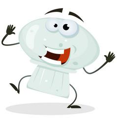 cartoon happy mushroom character vector image