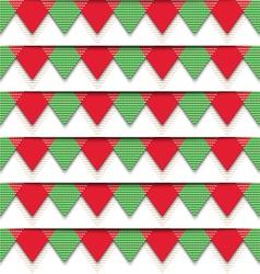 Christmas Bunting Pattern vector image