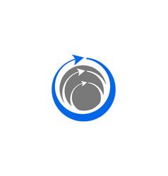 circle arrow logo template design vector image