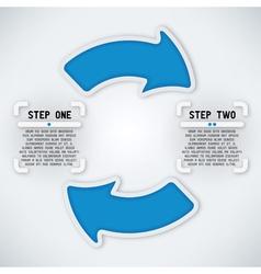 Circular Arrows - Two Steps vector