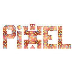 Coll pixel art in vector