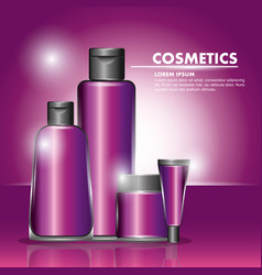 cosmetics bottle skincare vector image