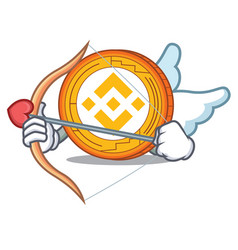 Cupid binance coin character catoon vector