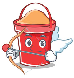 Cupid bucket character cartoon style vector