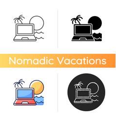 Digital nomad icon vector