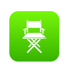director chair icon green vector image