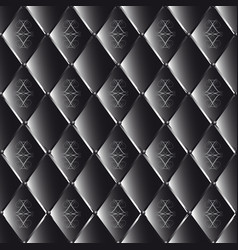 Drawing of black quilted leather with geometric vector