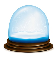 Empty snow dome vector