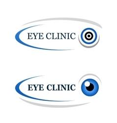 eye clinic icon vector image