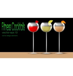 Fitness cocktails vector