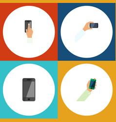 Flat icon smartphone set touchscreen telephone vector