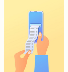 flat online mobile payment concept vector image