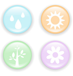 Fresh nature icon vector