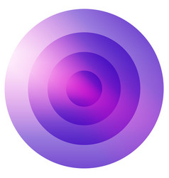 Glassy colorful radiating concentric circles vector