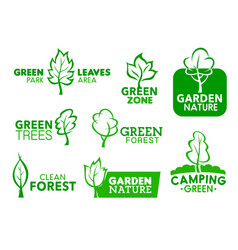 green garden park nature leaf corporate icons vector image
