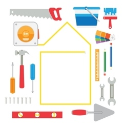 house remodel tools vector image
