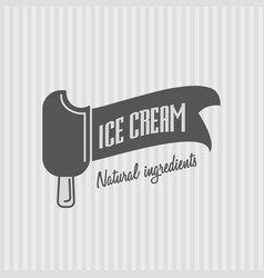ice cream logo badge or sign for any use vector image