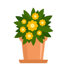 Indoor flower houseplant icon flat style vector