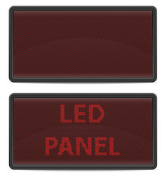 led panel digital scoreboard vector image