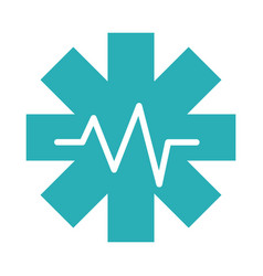 Medical health care pulse science assistance flat vector