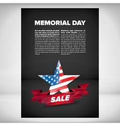 Memorial day banner design vector