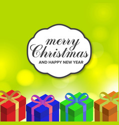 merry christmas and happy new year gift background vector image
