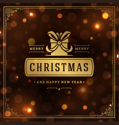 Merry christmas and happy new year text greeting vector