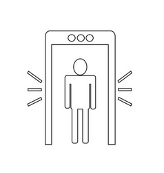 metal detector icon design vector image