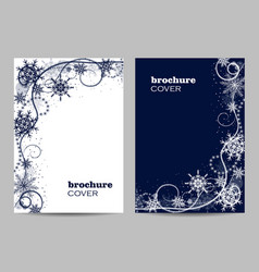 Modern brochure cover design with winter pattern vector