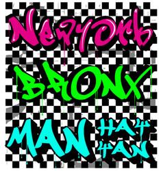 modern typography graffiti vector image