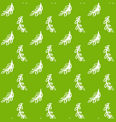 natural leaf green seamless pattern vector image