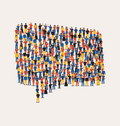 people group in social chat icon for communication vector image