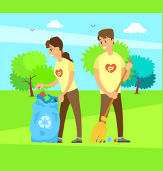 people social workers in volunteering organization vector image