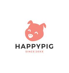 pig head logo icon vector image
