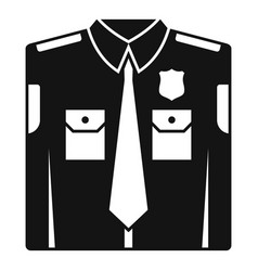 police uniform icon simple style vector image