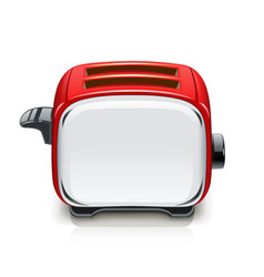 Red toaster kitchen equipment vector