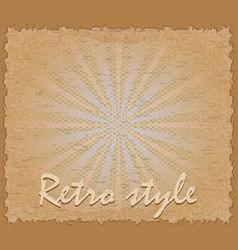 retro style poster horizontal vector image