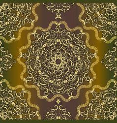 round floral mandalas seamless pattern arabesque vector image