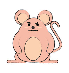 rude face mouse rodent vector image