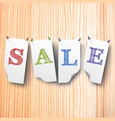 Sale paper style labels set vector