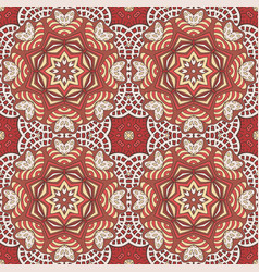 seamless doodle pattern ethnic motives cream and vector image