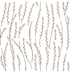 Seamless pattern with willow branches vector image