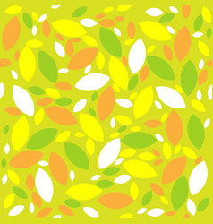 seamless retro geometric pattern with leaves vector image