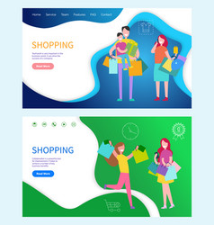 shopping buiness teamwork and benefits vector image