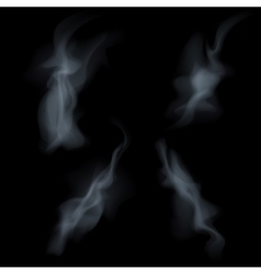 smoke isolated on white background vector image