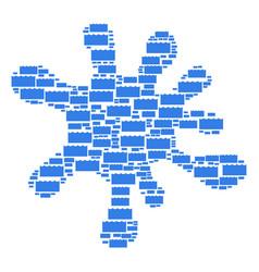 Splash shape of sea water icons vector