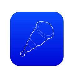Spyglass icon blue vector