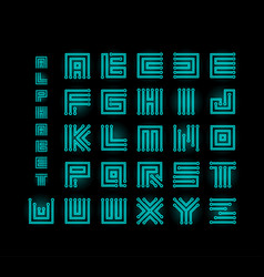 tech ront technology alphabet chipset vector image