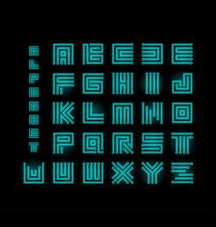 Tech ront technology alphabet chipset vector