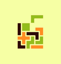 Tetris pieces vector